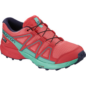 Salomon Speedcross CSWP Löparskor Barn pink/turkos